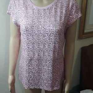 INC. pink sequined top
